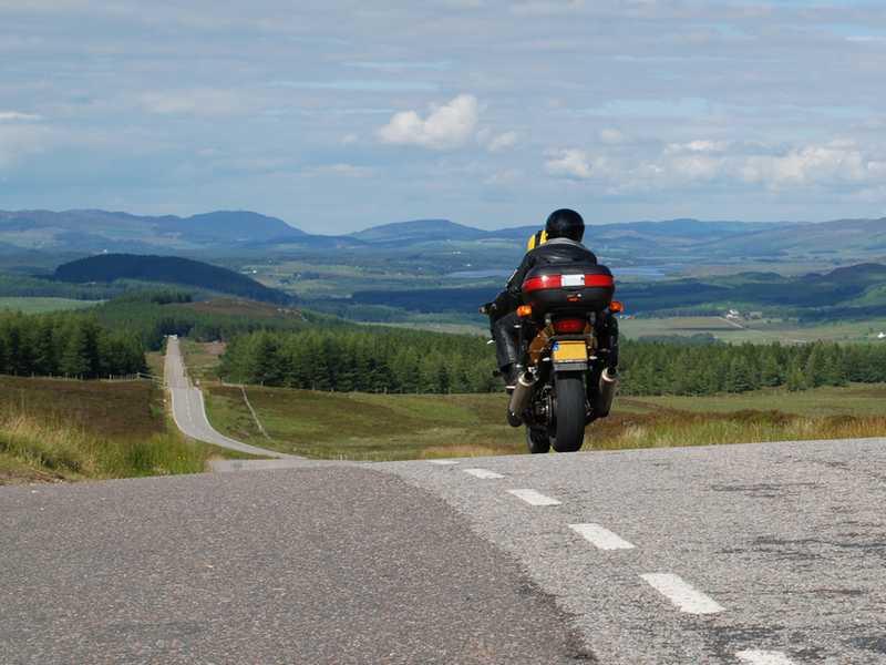 Mit dem Motorrad durch Schottland